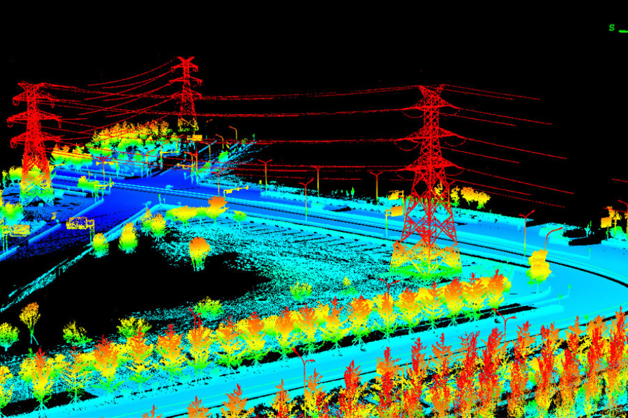 Lidar-powerline
