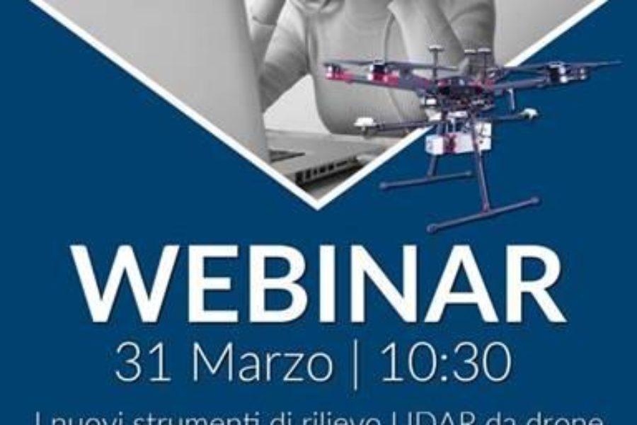WEBINAR: i nuovi strumenti di rilievo LIDAR