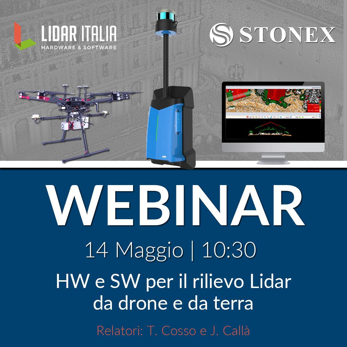 WEBINAR: HW e SW per il rilievo Lidar da drone e da terra