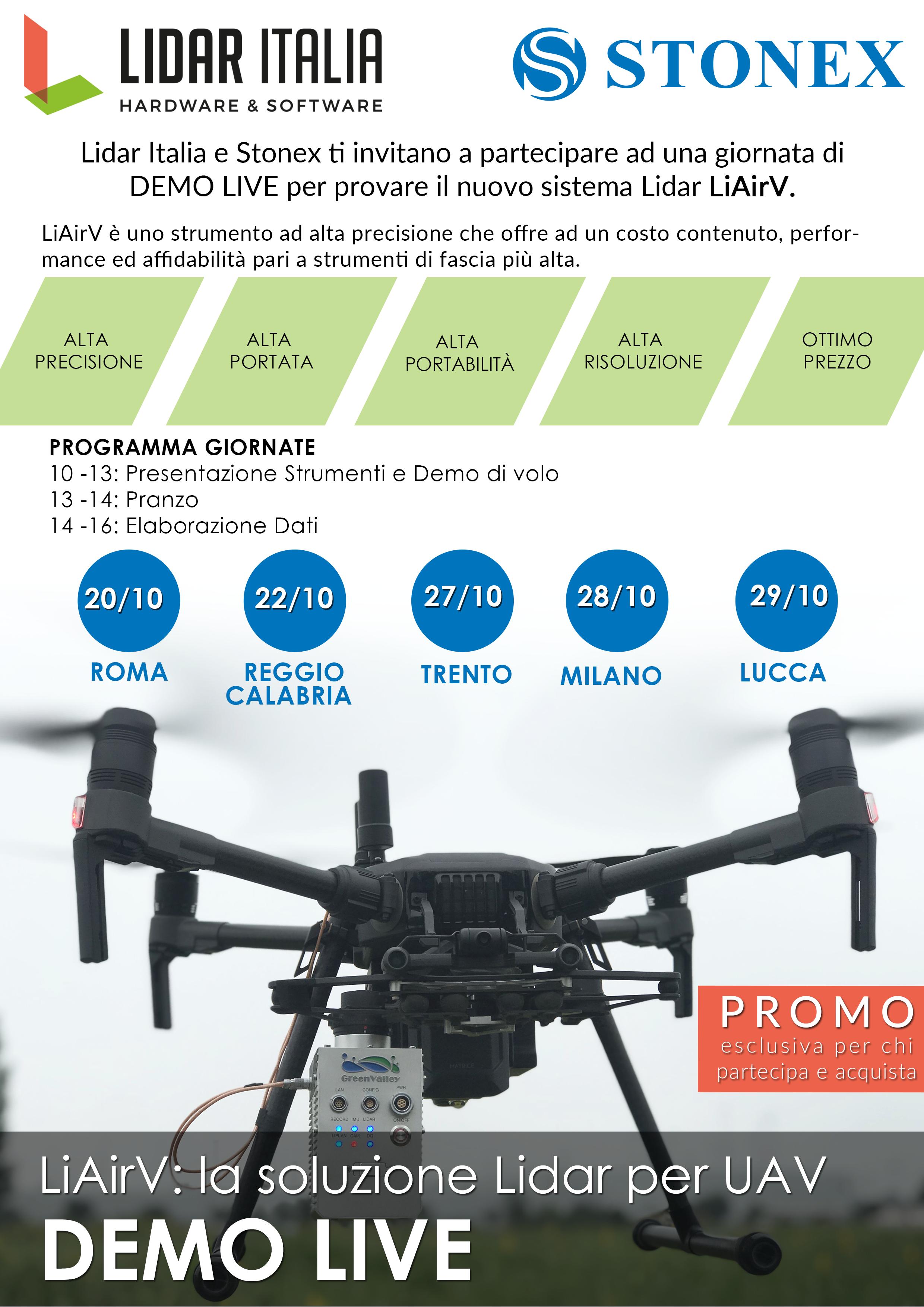 Eventi per la presentazione del nuovo strumento LiAir V